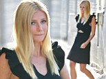 She's a classic! Gwyneth Paltrow shines in LBD as she departs from Jimmy Kimmel Live...as she reveals her children 'take the bus' to school