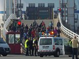 Calais migrants foiled as they try to storm ferry\n\nTaken from the BBC website, unaware of original source\nhttp://www.bbc.co.uk/news/world-europe-29057709
