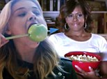 Chloe Moretz plays healthy heroine among junk food addicts in Divergent spoof... with hilarious cameo from Michelle Obama