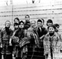 FILE - The file picture taken just after the liberation by the Soviet army in January, 1945 shows a group of children wearing concentration camp uniforms inc...