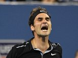4/9/2014 US OPEN TENNIS CHAMPIONSHIPS  NEW YORK DAY 11 THURSDAY QUARTER FINAL ROGER FEDERER V GAEL MONFILS QUARTER FINAL PICTURE DAVE SHOPLAND