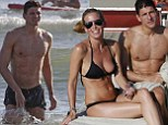Mario Gomez with his wife Carina Wanzung