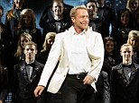 Crushed by cliche: Michael Flatley with his troupe of dancers at the Palladium
