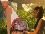 Is this rear-ly a good idea? Ellen Degeneres pulled a wry face as she twerked in front of Nicki Minaj in a sily selfie posted on The Ellen Show's website on Wednesday to promote its return to NBC next Monday