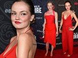 Emily Meade and Gretchen Mol sizzle in red hot dresses at the fifth and final season premiere of Boardwalk Empire in New York City on Wednesday