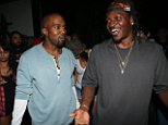 """NEW YORK, NY - SEPTEMBER 11:  (L-R) Kanye West and Pusha T attend the """"MNIMN"""" listening event at Industria Superstudio on September 11, 2013 in New York City.  (Photo by Johnny Nunez/WireImage)"""