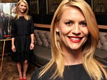 Claire Danes vamps up demure frock with scarlet heels as she joins Homeland co-stars for season four screening