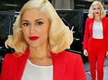 Red hot: Gwen Stefani in New York on Thursday