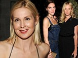 Putting on a brave face: Kelly Rutherford smiled as she attended a fashion party in NYC, having lost a custody battle involving her two kids last month