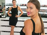 She's a black beauty! Irina Shayk turns heads in figure-hugging LBD at cocktail reception in New York