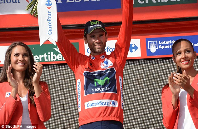 On the top: Movistar's Alejandro Valverde remains in the overall race leader's red jersey following stage seven