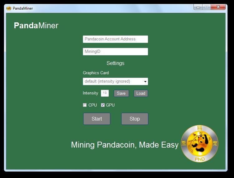 PandaMiner Screenshot