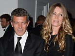 New love: Antonio Banderas took Dutch investment consultant Nicole Kimpel to a party in Cannes back in MAy