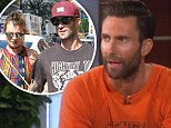 'She's in my phone as wife!' Adam Levine admits he 'adores' marriage to Behati Prinsloo as The Voice judges visit Ellen
