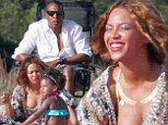 One big happy family! Beyonce celebrates her 33rd birthday with Jay Z and daughter Blue Ivy on the beach in France