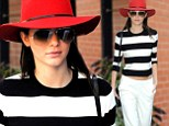 Chic: Kendall Jenner was spotted out in New York on Thursday