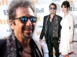 Say hello to my little friend! Al Pacino grins with glee as he shows off much younger girlfriend Lucila Sola, 35, at film festival