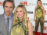 In full bloom! Pregnant Kristen Bell dazzles in floral jumper as she attends the Toronto International Film Festival