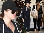 Working on herself! Khloe Kardashian indulges in a day of self-improvement hitting the gym before visiting a cosmetic laser clinic
