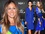 Blue beauties! Sarah Jessica Parker and Maggie Gyllenhaal are classy in cobalt frocks as they step out at Fashion Week