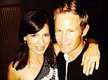 'Engaged!': Entourage star Perrey Reeves shows off her diamond ring after accepting new fiance Aaron Fox's proposal