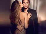 Naked Doutzen Kroes reveals a hint of pert derriere as she cosies up to smouldering Charlie Hunnam in new Calvin Klein ad