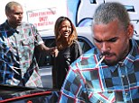 Chris Brown steps out on low-key shopping spree with girlfriend Karrueche Tran after court date