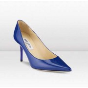 Jimmy Choo Agnes Patent Leather Heels Bright Blue