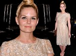Once Upon A Time that may have been in style! Jennifer Morrison misses the mark at the Monique Lhuillier New York Fashion Week show
