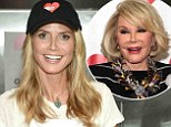 Heidi Klum prepares meals for Joan Rivers' favorite charity God's Love We Deliver on the same day legendary comedienne dies