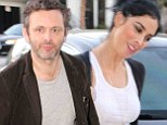 Hope Mr Sheen left his plate clean! Michael meets new girlfriend Sarah Silverman for intimate dinner date in Hollywood