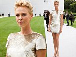 Mandatory Credit: Photo by Sipa Press/REX (3895352z).. Charlize Theron.. Christian Dior show, Haute Couture Fall Winter 2014, Paris Fashion Week, France - 07 Jul 2014.. ..