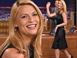Striking a stylish note! Claire Danes dons chic LBD as she makes an appearance on The Tonight Show Starring Jimmy Fallon