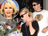 Paying their respects: Giuliana and Bill Rancic visit Joan Rivers' apartment... as Fashion Police future hangs in balance