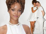 Lovely Lolita! Rihanna gets dolled up in flirty little white dress to hit up Adam Selman fashion show in New York City