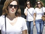 Twinsies! Minka Kelly and Mandy Moore enjoy lunch in almost identical ensembles