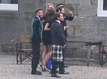 DAVID BECKHAM FILMING A WHISKY ADVERT IN THE HIGHLANDS...PIC PETER JOLLY