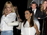 Who needs Antonio Banderas when you have Eva Longoria? Melanie Griffith steps out with famous pal after it emerges her ex 'has a new love'