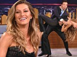 Is there anything she CAN'T do? Gisele Bundchen shows off impressive dance moves during Jimmy Fallon appearance
