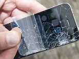 Familiar sight: The dreaded smashed screen is a major bugbear of iPhone users