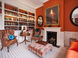 Sumptuous: The library at Inglewood House in Berkshire