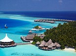 First place: The Maldives, long seen as one of the most romantic places in the world to go on holiday still stuns visitors with its crystal clear waters, white sand beaches and impossibly blue sea and sky. 'High scores across the board' from Conde Nast Traveller readers pushed this destination up from third place into pole posiition this time around