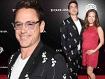Let's hope style isn't genetic! Robert Downey Jr. steps out in a very loud suit at the Toronto International Film Festival with his pregnant wife Susan