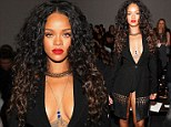 Pants not required! Rihanna takes being underdressed to a new level at the New York Fashion Week Altuzarra show
