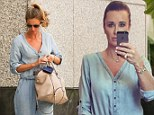New favourite! Kyle Richards shared a selfie of her modelling a denim jumpsuit on Thursday