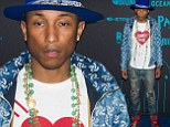 A little help from my friends! Pharrell Williams launches his eco-friendly denim collaboration with G-Star with pal Adrian Grenier by his side