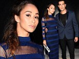 Jesse Metcalfe and Cara Santana are a perfect match in navy for the Charlotte Ronson show at New York Fashion Week