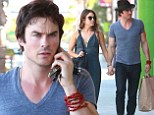 Ian Somerhalder and Nikki Reed can't keep their hands off each other while running errands together