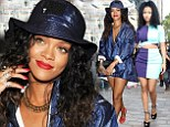 Trying to outdo the models? Rihanna and Nicki Minaj each put on leggy displays as they arrive for Alexander Wang fashion show during NYFW