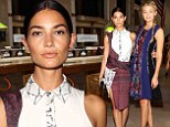 Gal pals: Lily Aldridge and Gigi Hadid posed together at the Prabal Gurung show on Saturday during New York Fashion Week